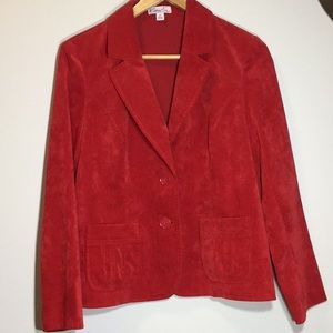 Red corduroy blazer!